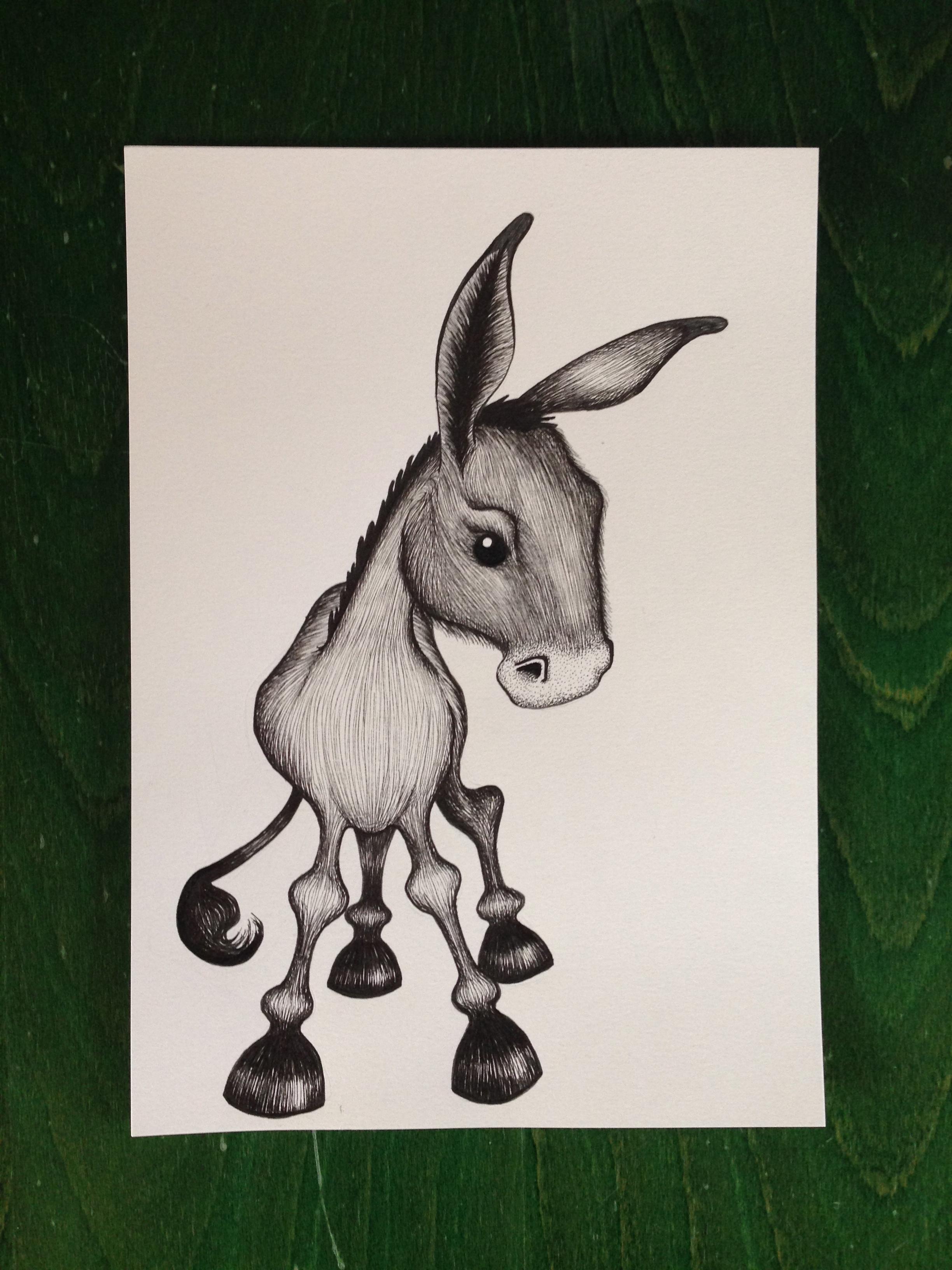 Fineliner illustration af Kræet Eigil
